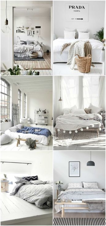 Beautiful Minimalist Bedroom inspiration.