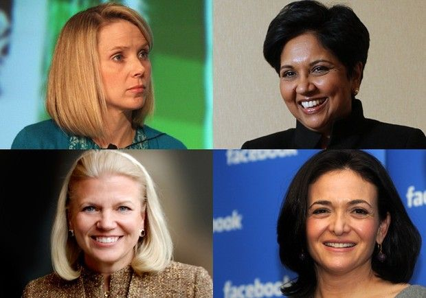The Most Powerful Businesswomen In The World. It's been a groundbreaking year for women in business. IBM appointed its first female CEO in Ginni Rometty. Sheryl Sandberg led Facebook through a much-anticipated IPO. Irene Rosenfeld is busy splitting Kraft into two public companies, and Marissa Mayer jumped from a top Google exec to the CEO seat at Yahoo. See who made the Forbes Top 20 and where they fall on the rankings. #WINS2012 www.wins2012.org