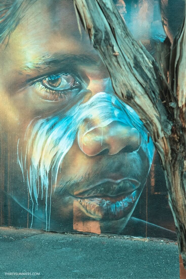 Matt Adnate is one of Australia's most talented street artists. He is famed for his Aboriginal-themed urban art. This is some Melbourne street art from 2015.