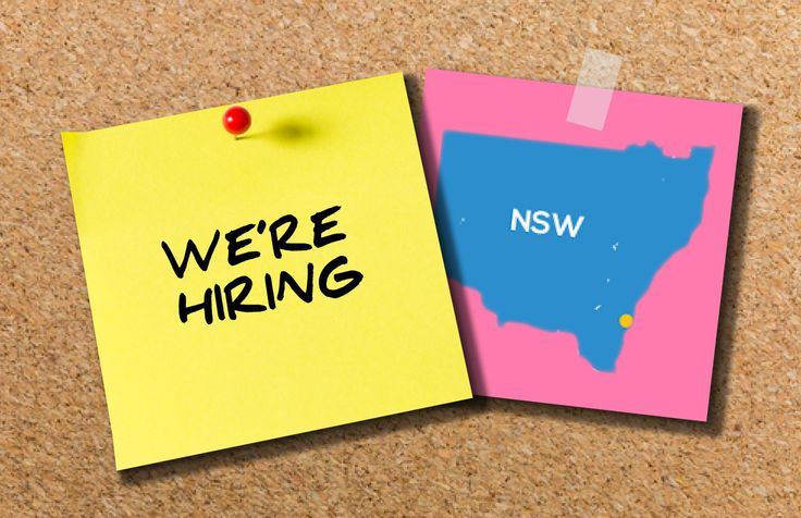 WE'RE HIRING IN NSW!