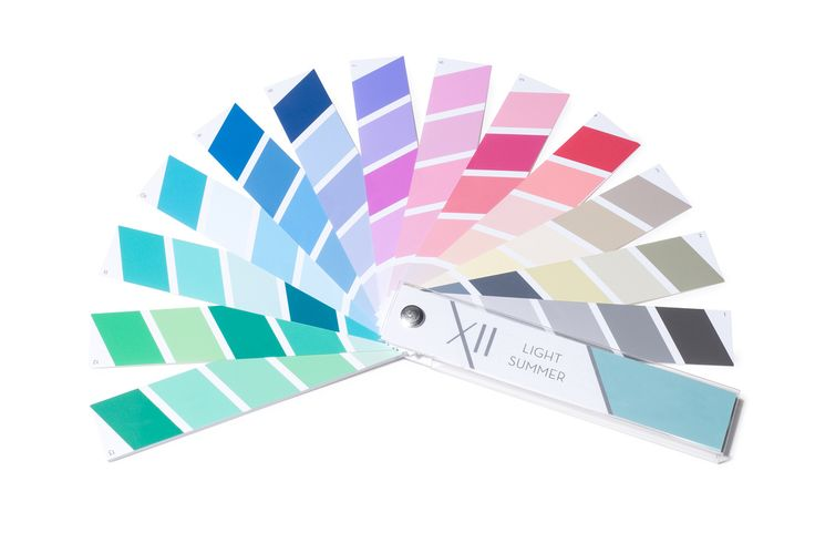 Light Summer palette / Prism XII - 100% Munsell® colour accurate, tested with Spectrophotometer by Munsell colour expert - the most accurate presentation of the 12-tones available today