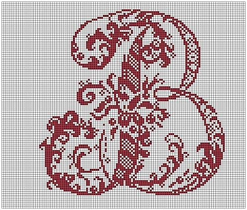 B. Free sewing pattern graph for cross stitch.