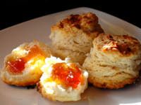 Coconut Biscuits with Guava Jelly