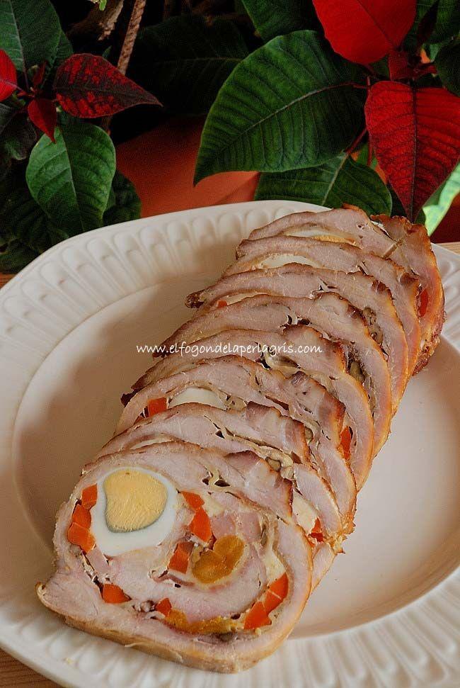 Rollo De Carne Relleno Al Horno Rollo De Carne Relleno Carne Rellena Recetas De Comida