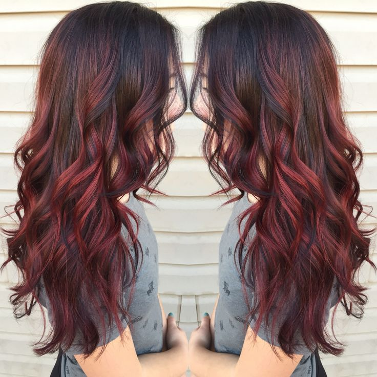 Red balayage - this would be perfect. I'm look for several different color tones in my hair and Lana nailed it when she did my Balayage. I think I will have it done again but in reds.