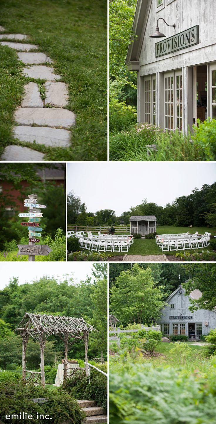 intimate secret garden wedding at hidden pond