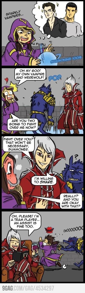 League of Legends making fun of Twilight :: Vladimir and Warwick.