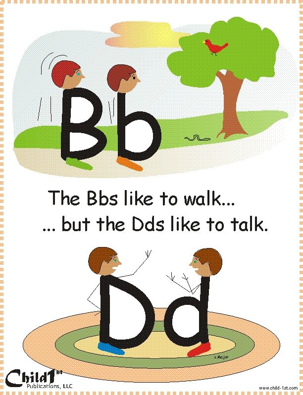"Good way to teach how to differentiate between ""b"" and ""d"" Very Clever!"