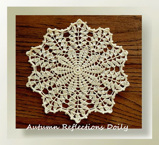 This petite little doily was designed years back. Recently a visitor posted a picture of her doily in a group I belong to on FB - it's called Threadies - be sure to look it up if you LOVE working with thread! It's headed up by none other than our Elizabeth Ann White!