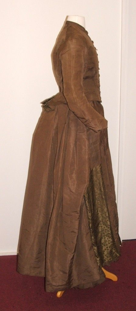 1883 Maria Harper's Wedding dress showing the fashionable bustle of the era.  Port Macquarie Historical Society