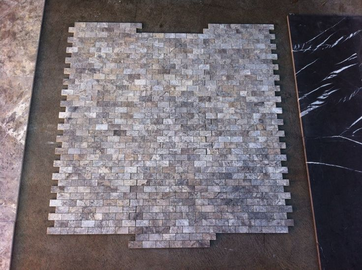 Silver Nazimi, honed & filled, cross cut mosaics