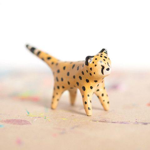 Le Fast Cheetah Totem   le animalé #cheetah #handmade