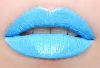Blue lips: Baby Blue, Hot Lips, Colors, Makeup Lips, Red Lips, Girls Fashion, Limes Crime Lipsticks, Lips Makeup, Blue Lipsticks