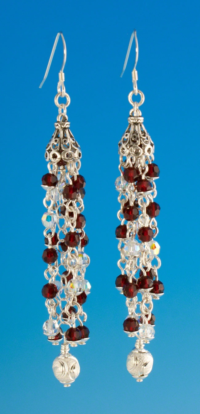 1716 best jewelrybeading closed images on pinterest bead ruby red crystal chandelier earrings limited time reduced price and only one available arubaitofo Gallery