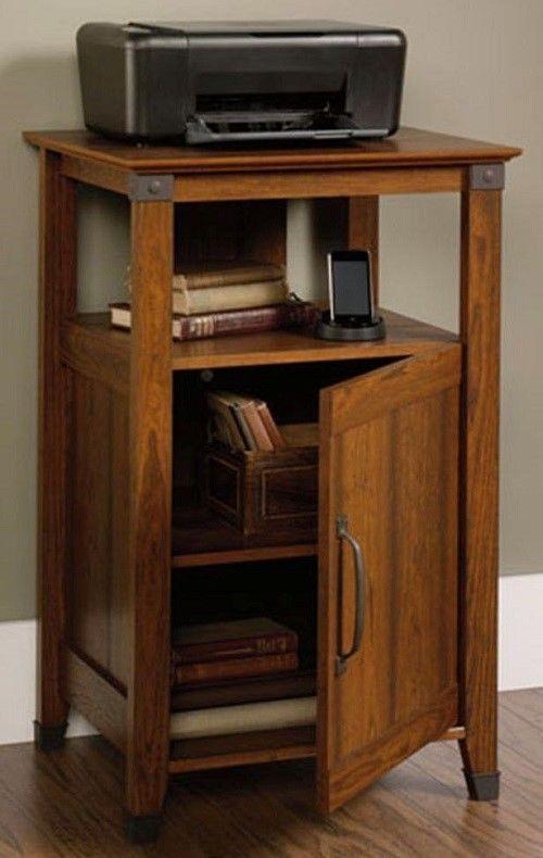 Office Furniture Printer Stand Storage Wood Cabinet Laptop Desk Utility Shelf