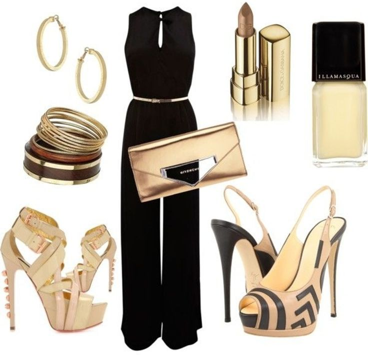 31. #Black Jumpsuit - 39 #Fabulous Date Night #Outfit Ideas ... → #Fashion #Screams