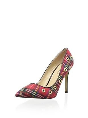 50% OFF Angeles Women's Ogin Embellished Pump (Tartan)