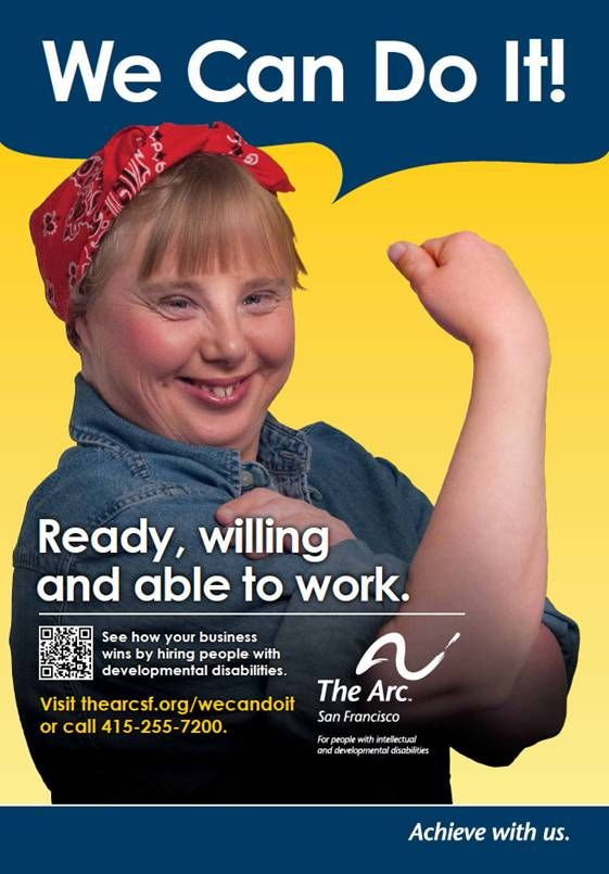 Image detail for -... the Arc's new ad for Employment of People with Disabilities Month