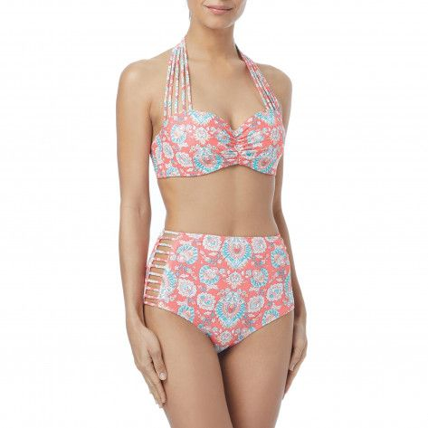 39cd1a25a21a8 Infinite Strappy Bra Sized Underwire Bikini Top - Mykonos Mix   Alabama  Charms- Things for ECD   Underwire bikini top, Bikini tops, Bra sizes