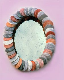 Shell mirror or frames - don't like the color combo though...