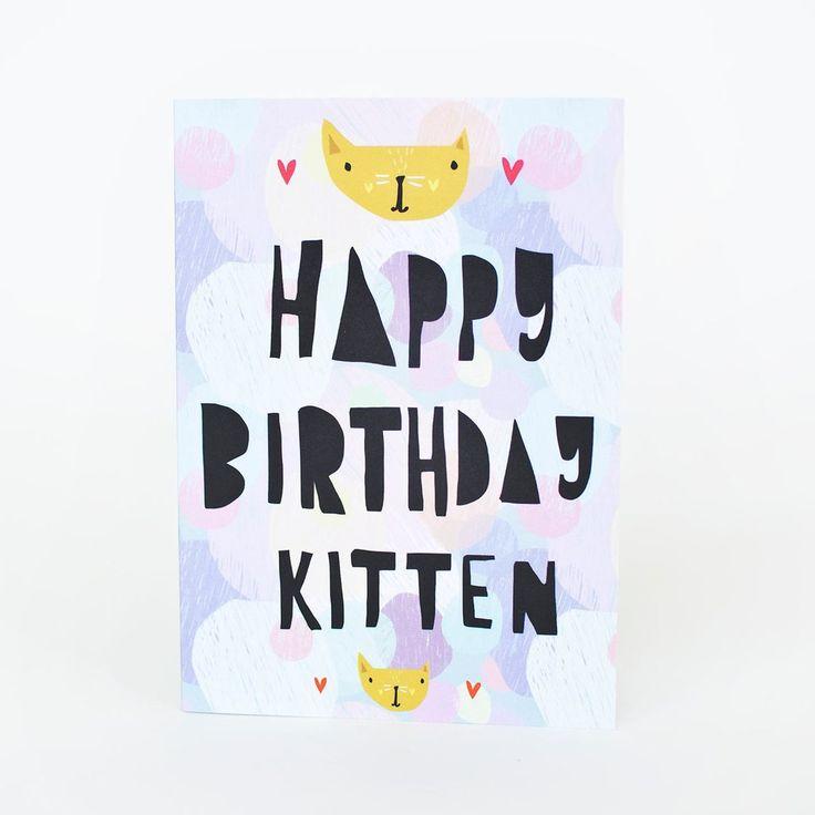 Happy Birthday Kitten Card #bdaycard #birthdaycard #kitten #happybirthday #catlady