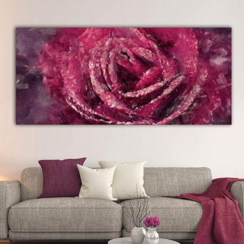 Artistic rose πανοραμικός πίνακας σε καμβά