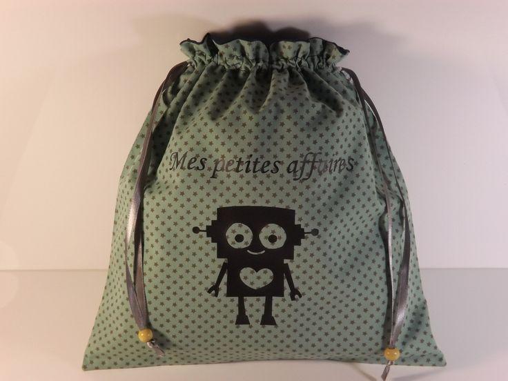 Pochon personnalisable pour garçon pour vêtements de rechange à la maternelle : Sacs enfants par les-p-tites-zettouilles