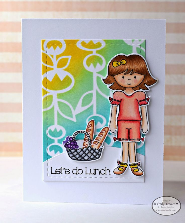 Paper Sweeties, PiecesbyEmily, Emily Frasier, card making, handmade card, clear stamps,