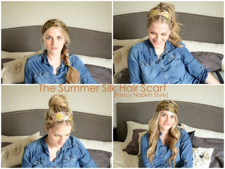 fancy napkin: .How to Work a Summer Silk Hair Scarf.