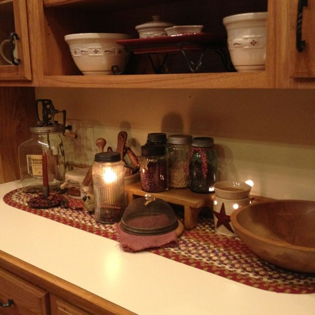 1000+ Images About Primitive Kitchens & Pantries On