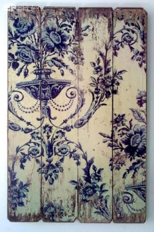 How to Transfer Vintage Wallpaper, Pictures and Almost Anything on Wood Pallet Wall Decor & Pallet Painting Workshop and tools