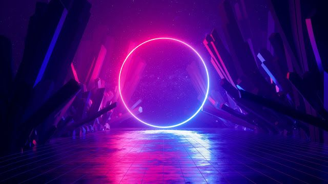 Hd Wallpapers Desktop Mobiles Neon Ring Sci Fi Huawei Mediapad M6 Stock Wallpape Neon Wallpaper Cool Wallpapers 4k Graphic Wallpaper