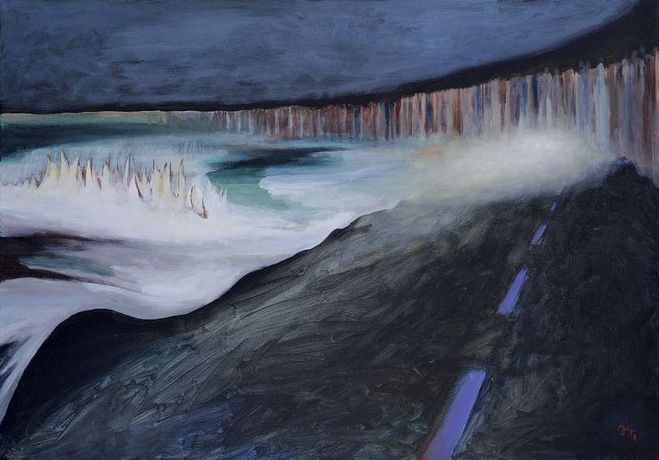 Jiří Hauschka:Road from the Forest, 2013, acrylic on canvas, 70 x 100 cm