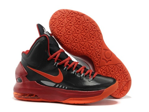 Nike Zoom KD 5 Black Red Orange Shoes,Style code:554988-005,