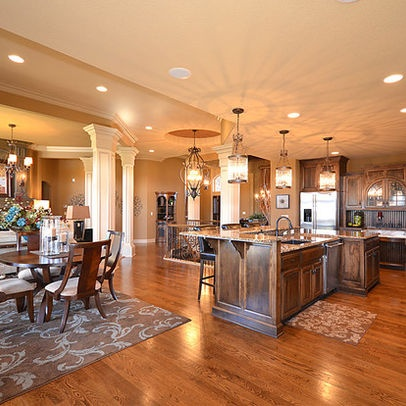 Columns offer support for the home pinterest kitchen for 12x12 kitchen living room