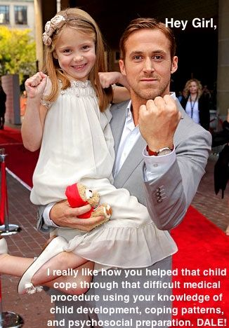 Ryan loves Child Life.