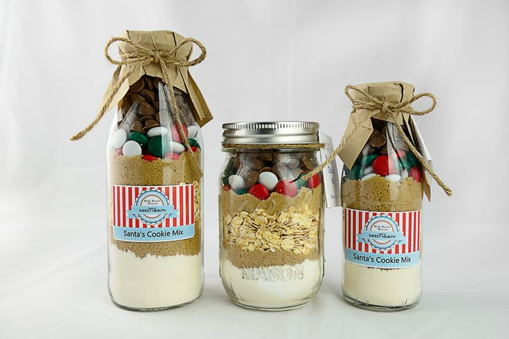 Santa's Cookie Mix Milk Bottle Mixer and Mason Jar Mixer available to purchase from http://www.sweethealth.com.au
