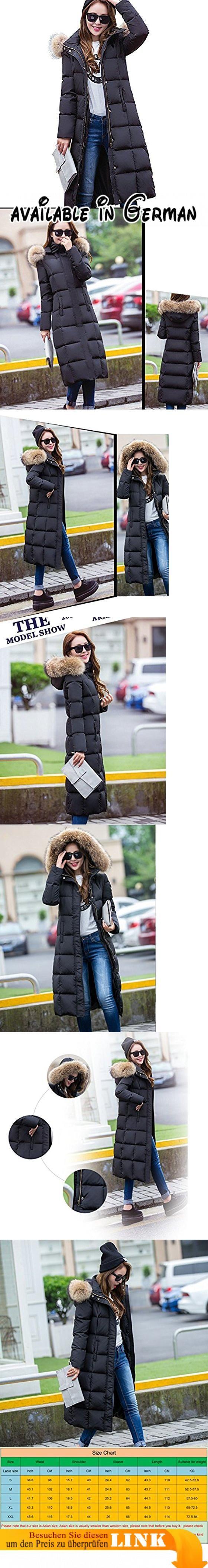 ELEAR® Damen Lange Leichte Daunenjacke Winterjacke Wintermantel Jacken Daunen mit Kapuze unterhalb der Knie Winter S-XXL. 100% neu und hochwertig. Verschluss: Reißverschluss. Leicht und wind glatt bequemes Gefühl. Perfekt Design für Frauen Damen Mädchen. Top-Modisch mit hochwertigen Materialien #Apparel #OUTERWEAR