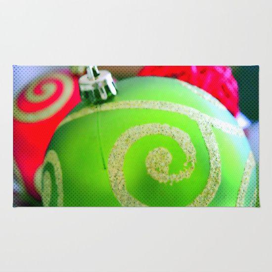 Green Christmas Ornament | Nadia Bonello | Canada Rug by Tru Artwear | Society6