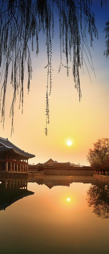 경복궁, ROYAL PALACE, SUNSET, KOREA
