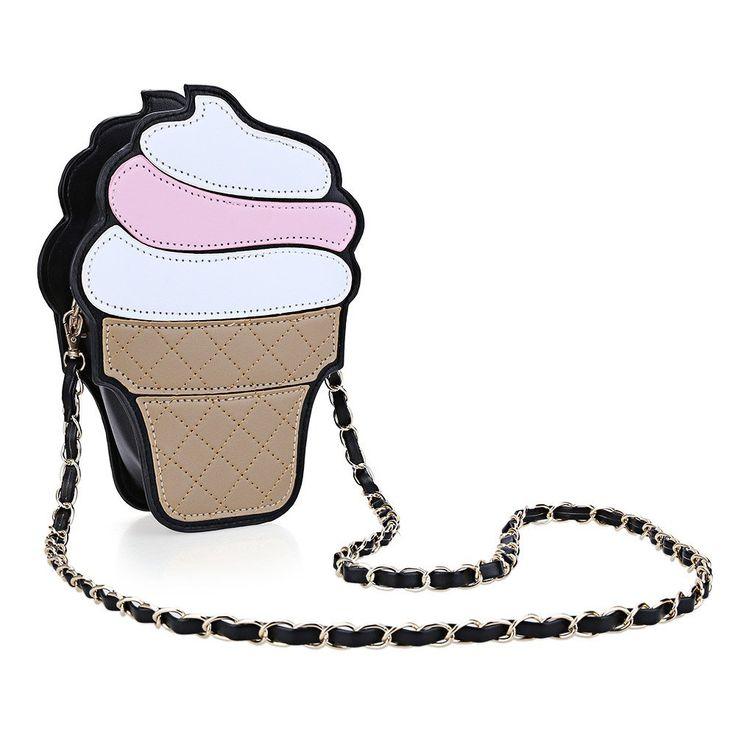 Каваи Милый Корейский Стиль девушки Мороженое Цепи Сумка Кожа PU Небольшие Сумки Торт Карандаш Shaped Женщин Crossbody Сумка мешки #CLICK! #clothing, #shoes, #jewelry, #women, #men, #hats, #watches