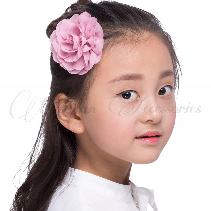Headwear  Retail 8.5cm Newborn Chiffon Petals Poppy Flower Hair Clips Rolled Rose Fabric Hair Flowers For Kids Girls Hair Accessories * Click the image to visit the AliExpress website