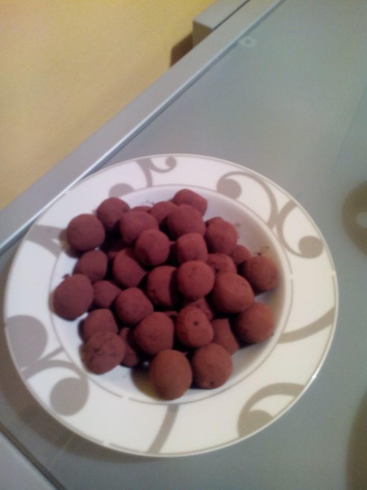 tartufi cioccolato fondente e cacao amaro