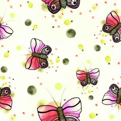 Mariposas ojo flor - GValencia | Impresión de telas con diseños personalizados | ilatela.com