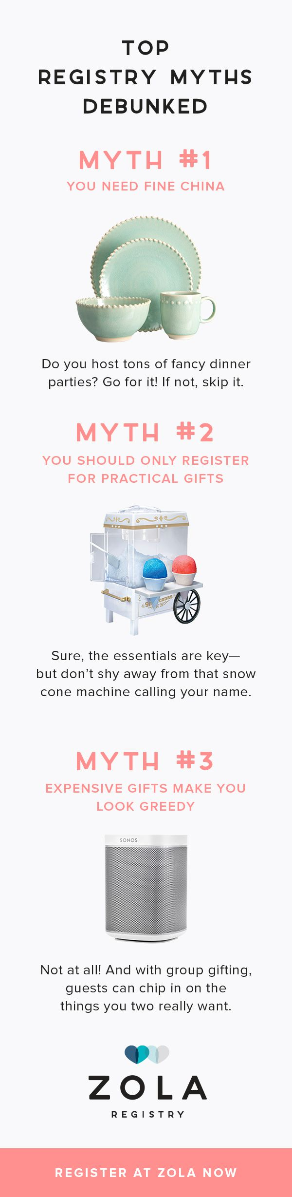 You're not getting married in the 1950s, so why register like you are? Meet Zola, the registry for 2018.