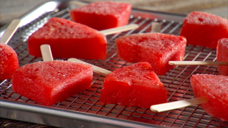 Frozen Melon-Margarita Pops - just made something similar this week ...