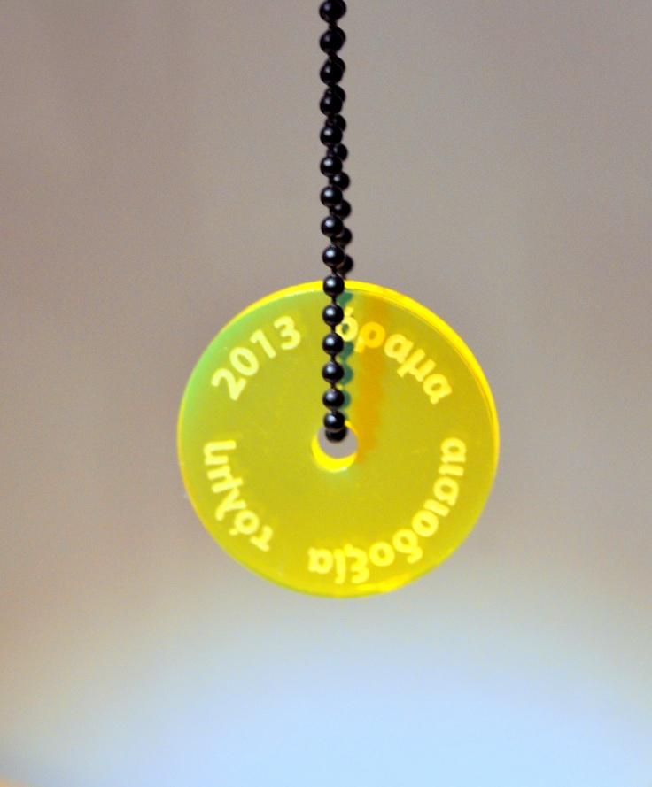 2013 acrylic charm