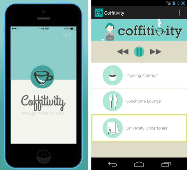 Coffitivity | 17 Free iPhone Apps That'll Actually Help You Study