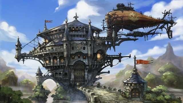 The Wonderful Art Of Akihiko Yoshida Video Game Art Director Oc Creativity Post Bravely Default Game Art Environment Concept Art