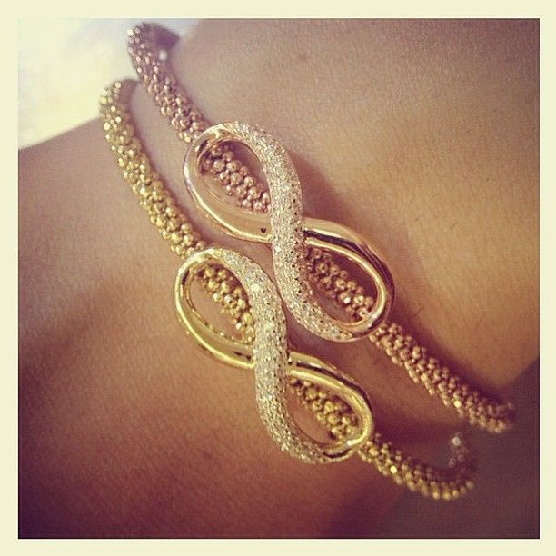 Infinity Bracelets! Rose gold